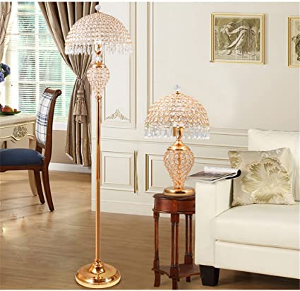 GUOPENGFEI Lámpara de pie IKEA lámpara de pie de Cristal ...