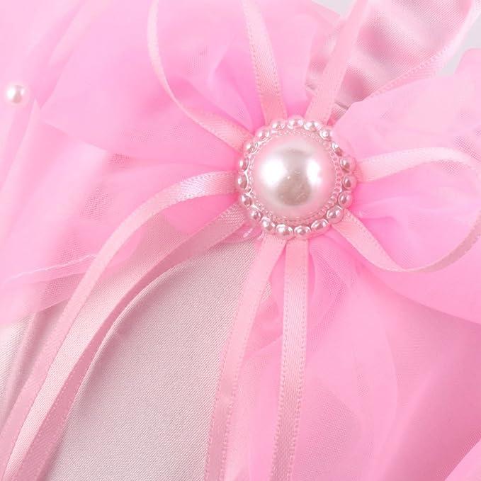 Amazon.com: eDealMax Partido de Novia de Raso Bowknot de perlas de imitación de la decoración de DAMA de pétalos de la Flor rosada de la cesta del ...