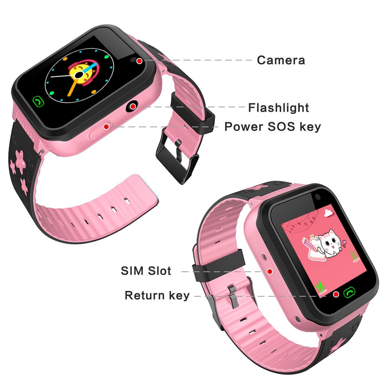 Amazon.com: [SIM Card Included]Kids Waterproof Smart Watch ...