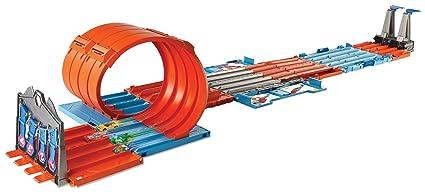 Mattel Hot Wheels Playset Track Builder Mega Caja 3 En 1 Amazon