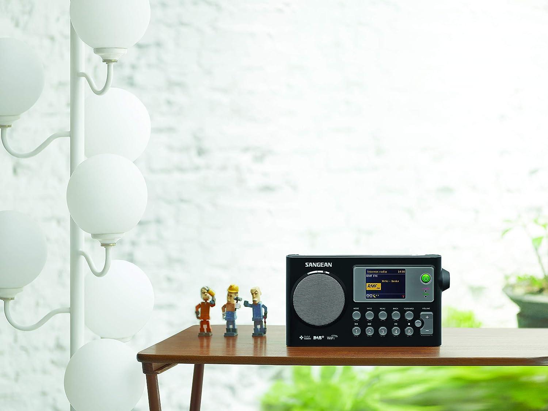 Sangean Wfr 27c Tragbares Internetradio Dab Ukw Tuner Wlan Upnp Dmr Music Streaming Netz Batteriebetrieb Weckfunktion Dual Alarm Schwarz Heimkino Tv Video
