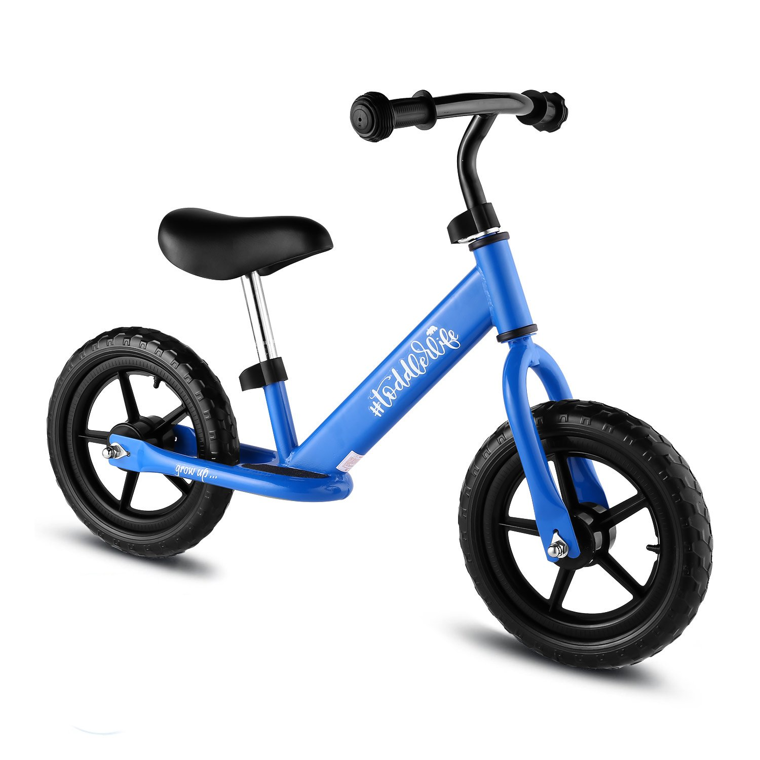 BIKFUN Balance Bike for Kids, No Pedal Traning Children Cycles with Adjustable Handlebar and Seat, Toddler Walking Bicycle Fits Ages 18 Months to 5 Years (Classic-Blue)