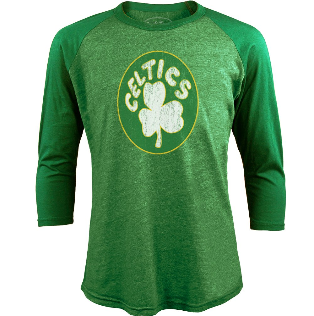 Majestic Athletic NBA ラグランTシャツ メンズ プレミアム トライブレンド 3/4丈の袖 S グリーン   B071CYGZGF