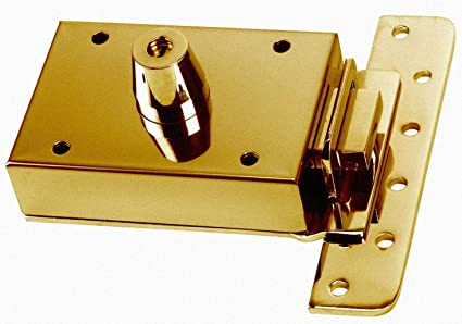 Inceca 3661205 - Cerradura de sobreponer contra palanca, doble cilindro, lateral (acero,