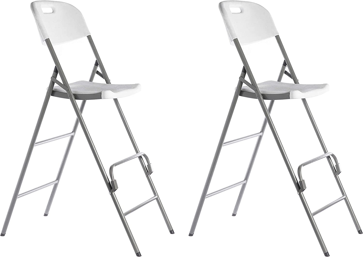 Gardenised QI003728.2 Folding Indoor and Outdoor Use Tall Triple Braced Garden Patio, Set of 2 Chairs