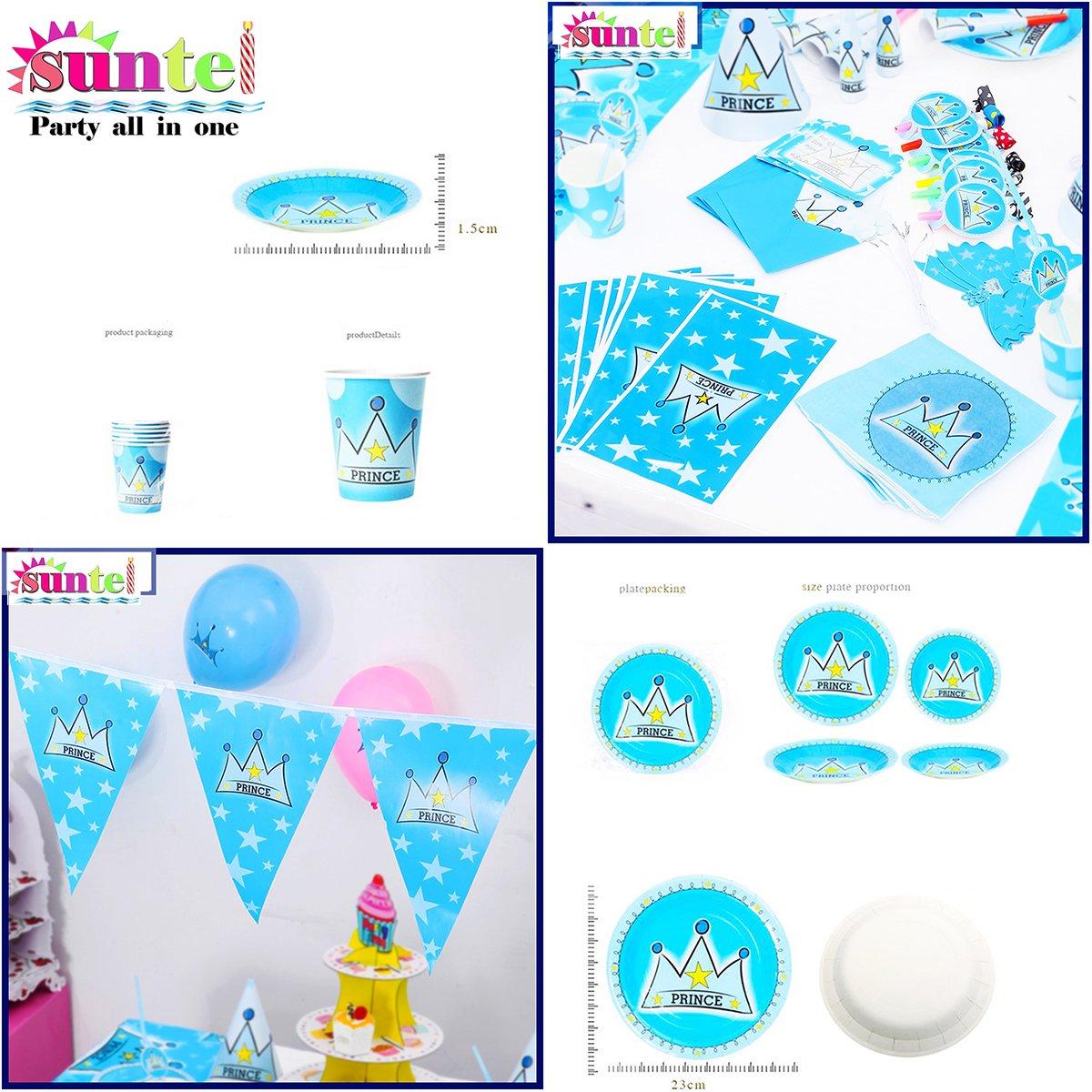 Amazon.com: Suntel Prince Birthday Party Decoration 16 Item 84 ...