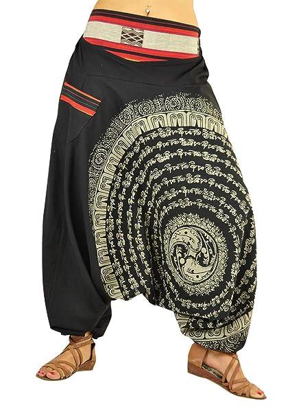 virblatt Pantaloni alla Turca Donna Pantaloni Etnici Larghi Donna Harem  Pants Yoga - Nirvana SM 291a5932345
