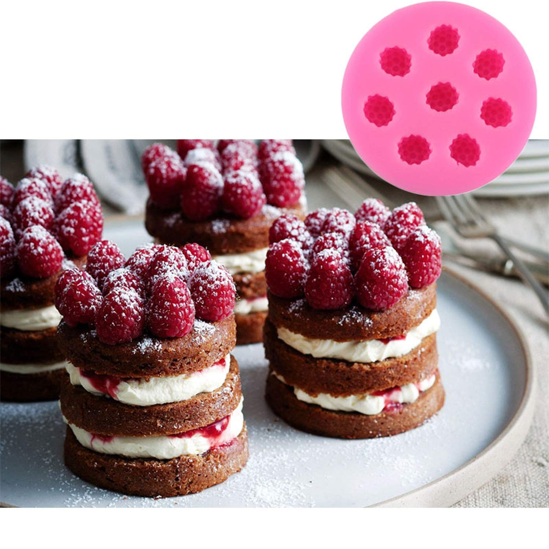 Molde de silicona Raspberry Blueberry para decoración de pasteles, moldes de silicona talla única Raspberry: Amazon.es: Hogar