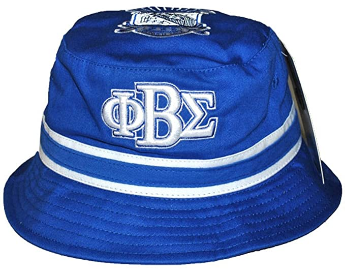 f191bcc408e67 Image Unavailable. Image not available for. Color  Phi Beta Sigma  Fraternity Mens Bucket Hat Blue