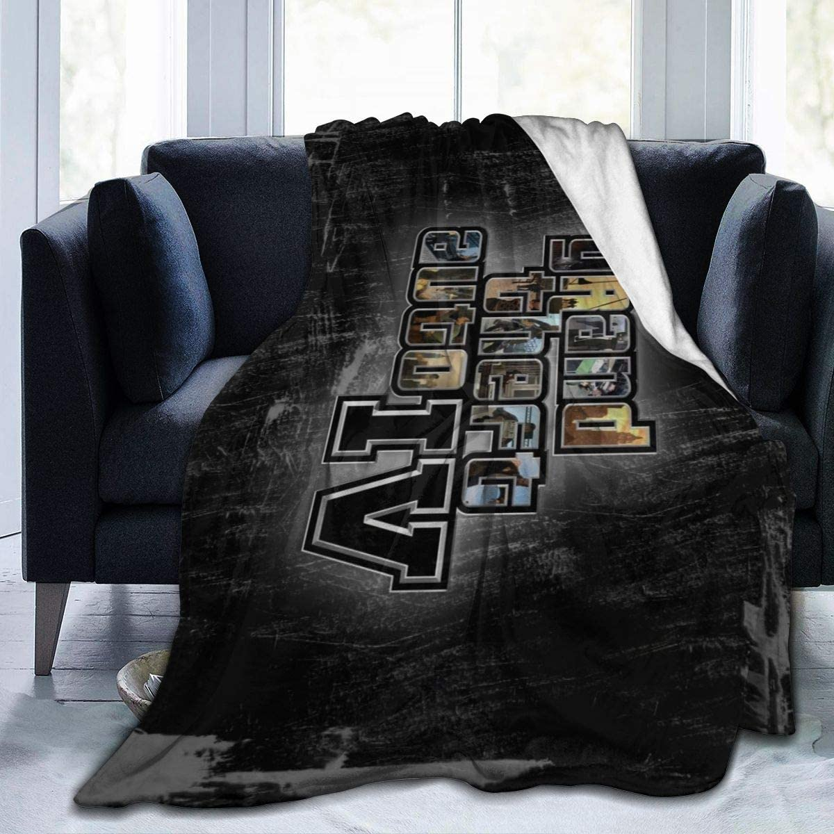 "Gr_and The_ft Au-to IV Ultra-Soft Micro Fleece Blanket Anti-pilling Flannel Sleep Comfort Super Soft Sofa Blanket To Let Your Cold Winter Feel The Warmth Of The Stove (5040)(6050)(8060) 50""x40"""