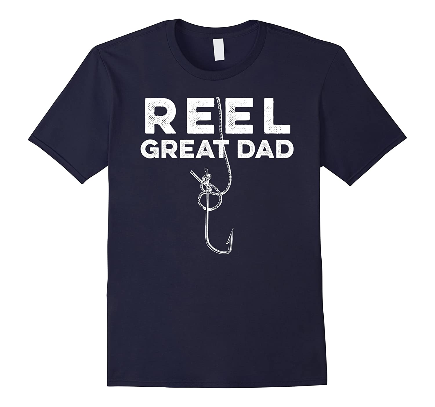 Mens Funny Pun Reel Great Dad Fisherman Fish Love Father T Shirt-TH