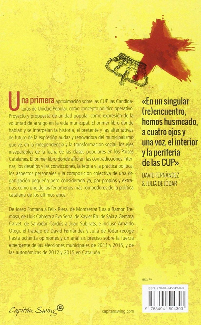 CUP (ESPECIALES): Amazon.es: David Fernàndez, Julià de Jòdar, M» Eugenia Frutos: Libros