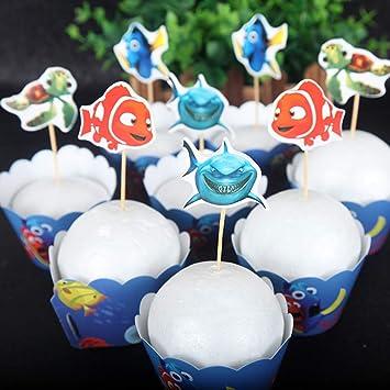 Pleasant 24Pc Finding Dory Marlin Nemo Destiny Candy Bar Cupcake Home Interior And Landscaping Ologienasavecom