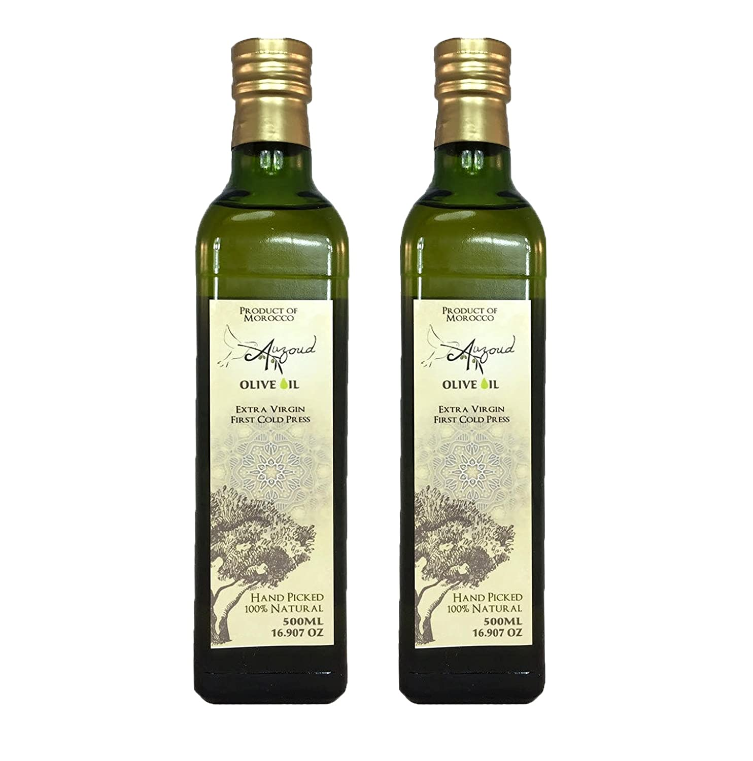 Auzoud Extra Virgin Olive Oil, Supports North African Women Farmers, 100%  Natural, Hand-Picked, Cold