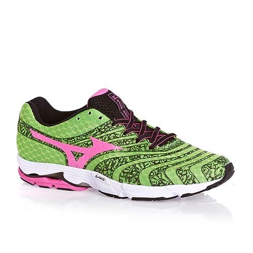 Mizuno - Zapatillas de Running para Mujer Verde Grün/Pink 37 EU: Amazon.es: Zapatos y complementos