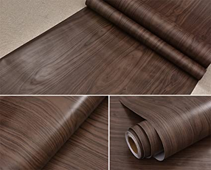 Exceptionnel Dark Maple Wood Grain Contact Paper Self Adhesive Shelf Liner Covering For  Kitchen Cabinets Doors Drawers