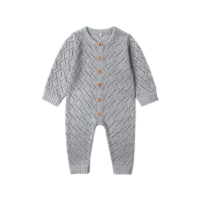 Amazon.com: Ziyunlong Baby Knit Romper Newborn Long Sleeve ...