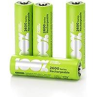 4 x Pilas Recargables AA 100% PeakPower 2600 Series | Capacidad mínima Garantizada 2300 mAh NiMH | Pilas AA Recargables…
