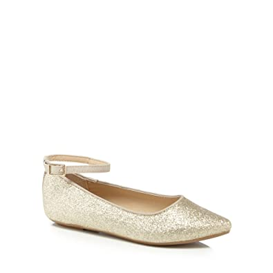6b5738ac779 bluezoo Kids Girls  Gold Glitter Pumps  bluezoo  Amazon.co.uk  Shoes ...