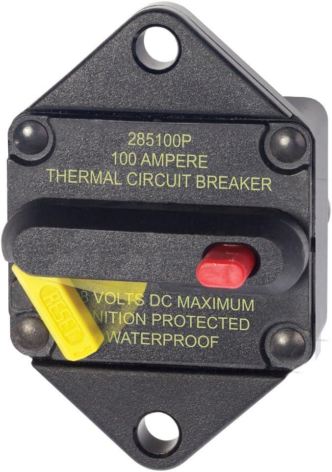 BLUE SEA SYSTEMS 7087 Blue Sea 7087 100 Amp Circuit Breaker Panel Mount 285 Series