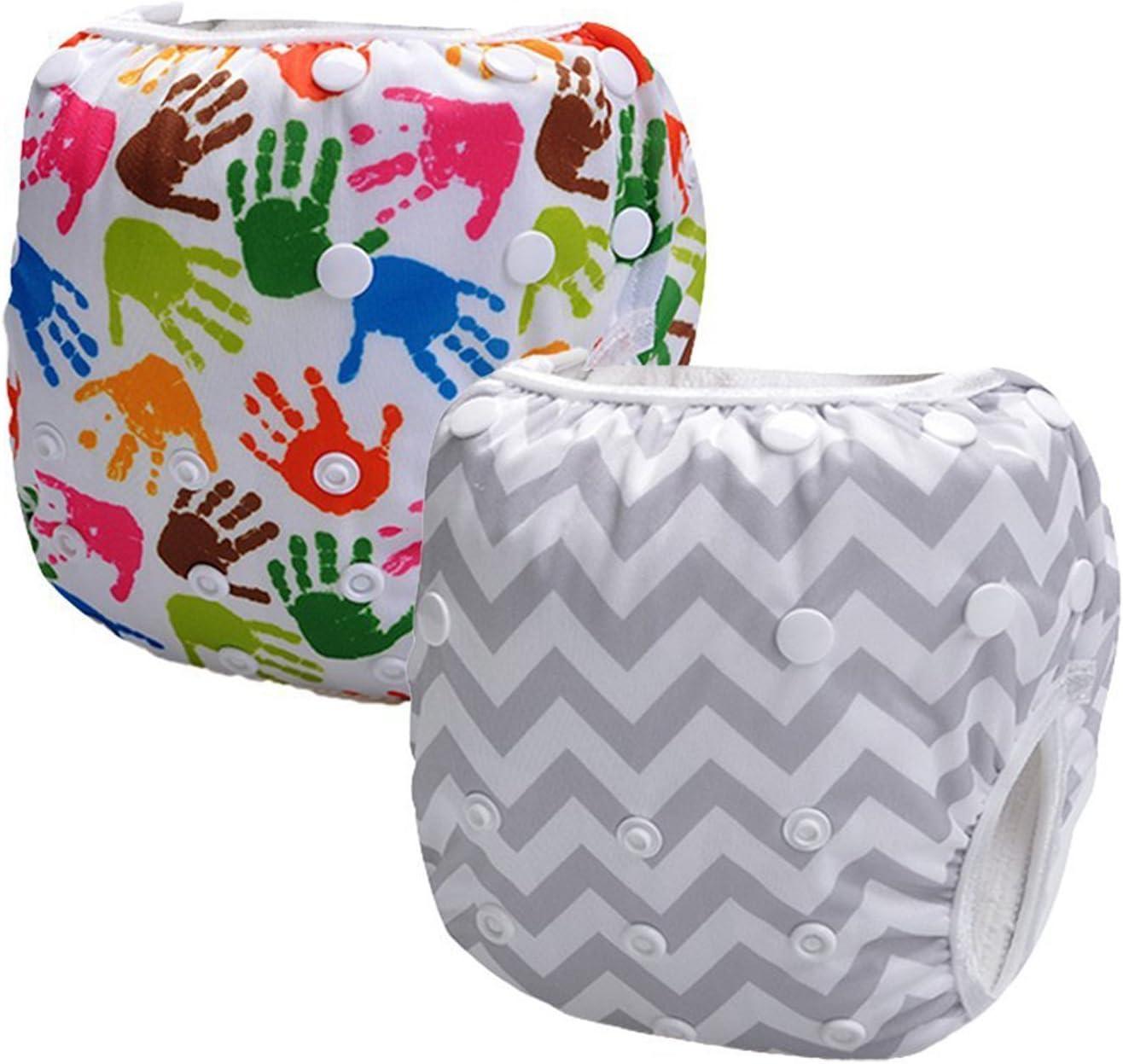 ssstar 2pcs Infant Big One tama/ño reutilizable lavable Swim Pa/ñales multicolor white