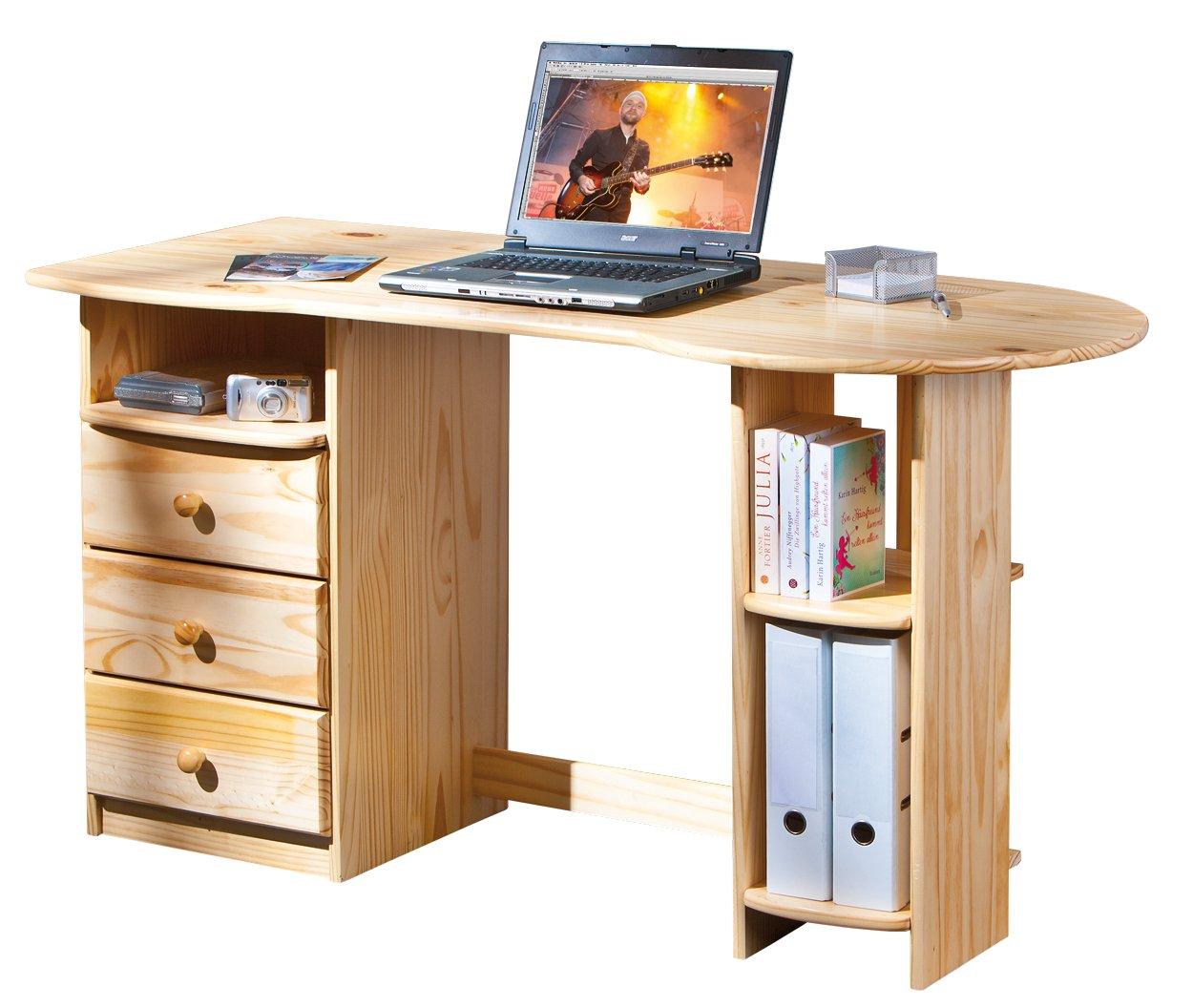 Links - Office A13 - Porta pc. Dim: 137x61x76 h cm. Col: Naturale. Mat: Legno massello. 30600570 F00011901034
