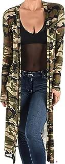 product image for Funfash Plus Size Women Camo Green Sheer Mesh Kimono Long Duster Cardigan