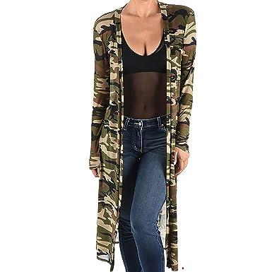 03cfe4b1e21 Funfash KM2 Plus Size Women Camo Green Mesh Kimono Long Duster Cardigan 2X