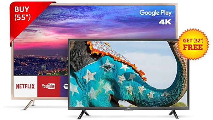 Tcl 1397 Cm 55 Inches L55p2mus Android M 4k Uhd Led Smart Tv