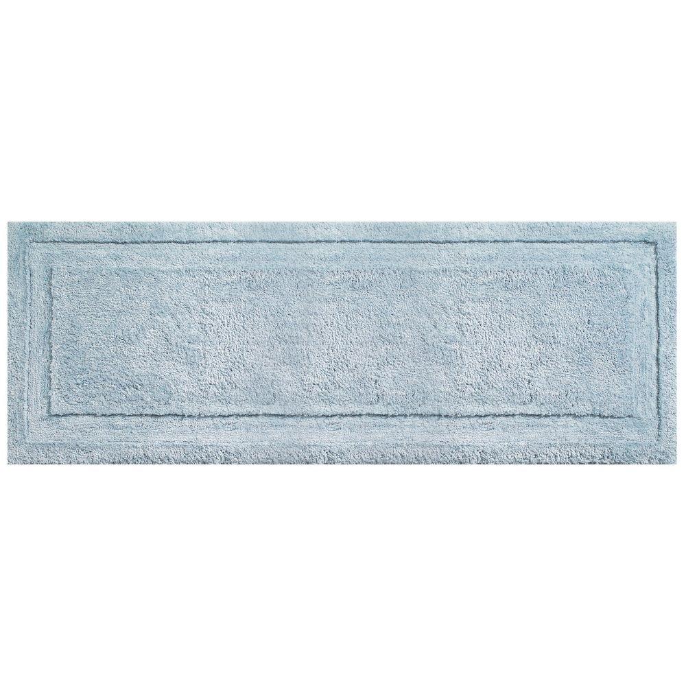 mDesign Soft Microfiber Polyester Non-Slip Extra-Long Spa Mat/Runner, Plush Water Absorbent Accent Rug for Bathroom Vanity, Bathtub/Shower, Machine Washable - 60 x 21 - Black MetroDecor