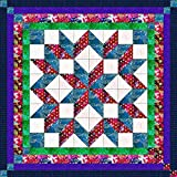 Easy Quilt Kit Carpenters Wheel Batiks QUEEN