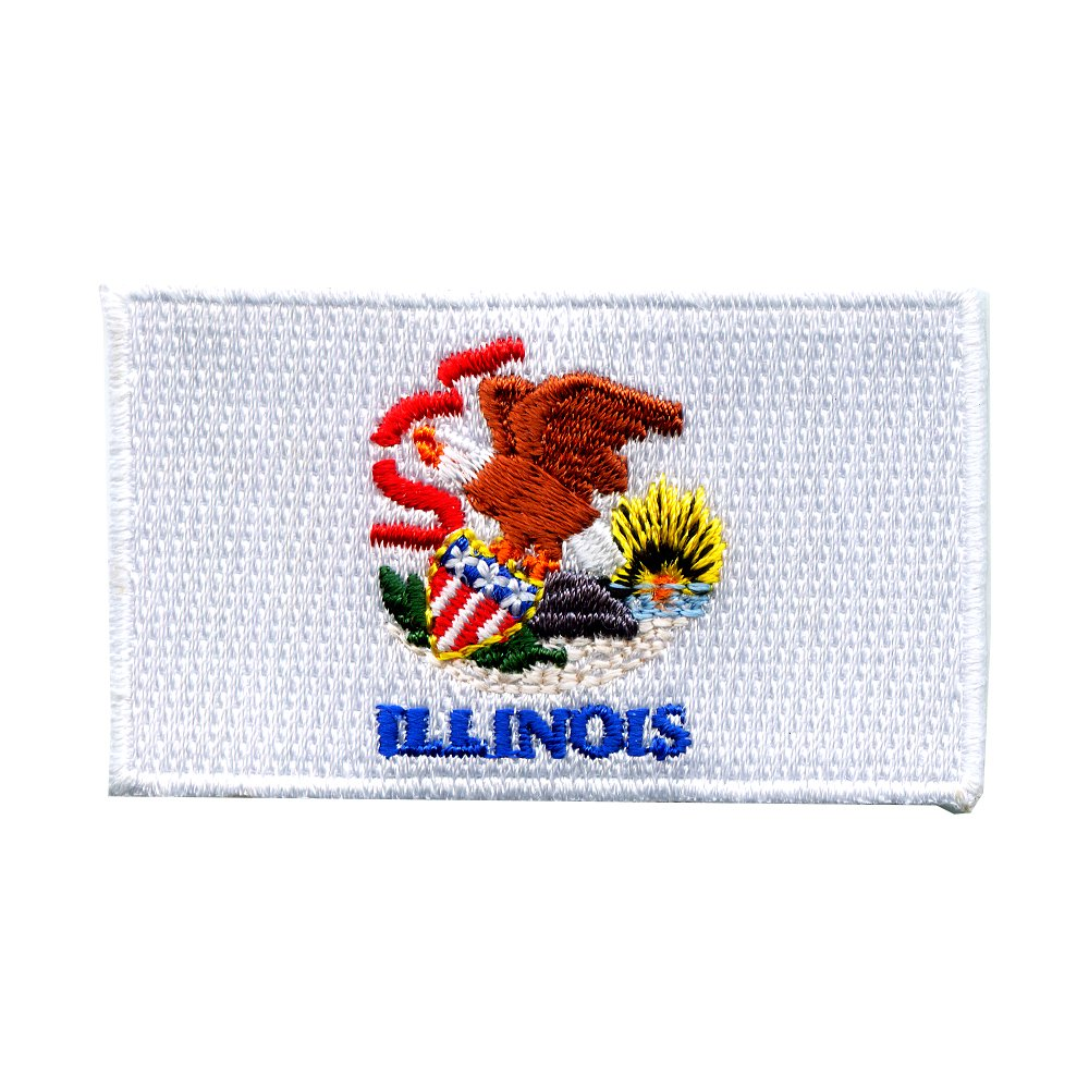 Illinois Springfield Chicago Amerika US Bundesstaaten Patch Aufn/äher Aufb/ügler 0065
