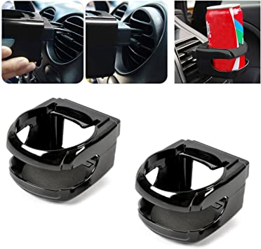 1x Universal Car Air Vent Folding Cup Bottle Drink Holder with Fan can holder