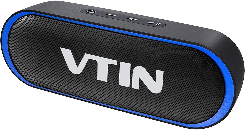 VTIN R4 Altavoz Bluetooth 12W, Altavoz Portatil Bluetooth 5.0, 24H de Reproducción, Altavoz Exterior con Micrófono, AUX/TF, para Móvil, Tabletas, MP3, Fiestas, Viajes: Amazon.es: Electrónica