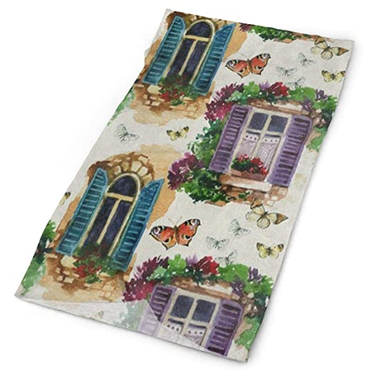 Headband Watercolor Old-Fashioned Window Butterfly Outdoor