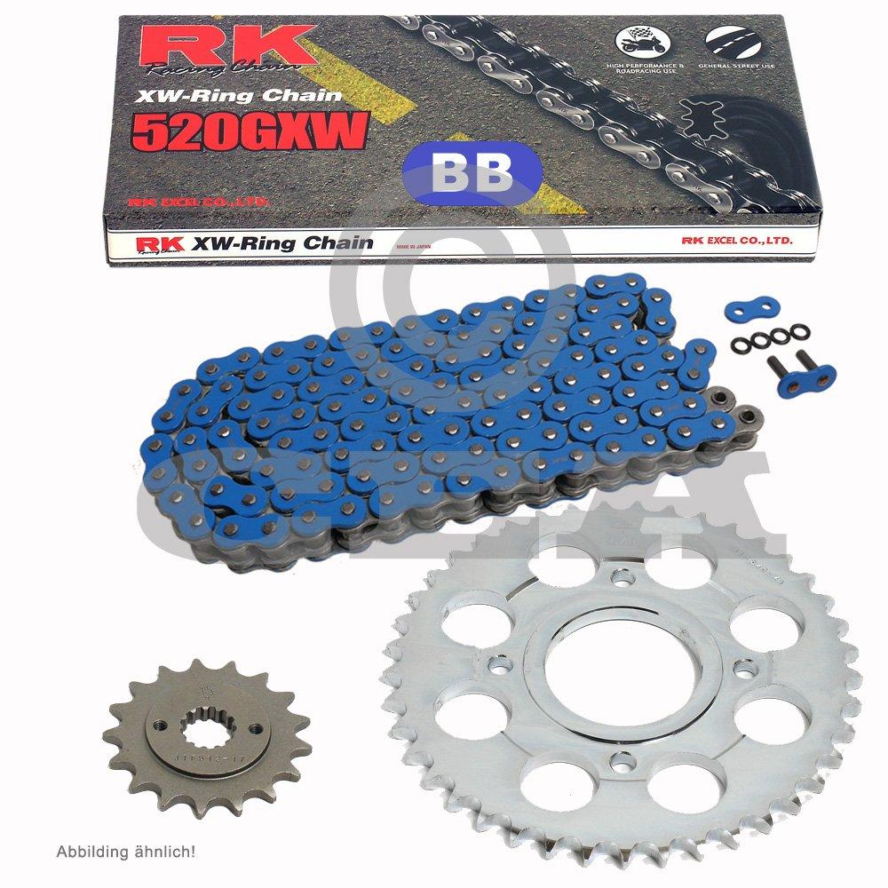 offen Kettensatz Honda FMX 650 05-06 BLAU 14//42 Kette RK BB 520 GXW 110