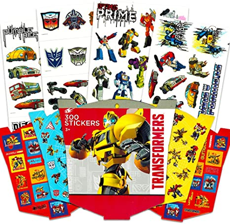 Transformers Tattoos and Stickers Party Favor Pack 50 Temporary Tattoos and 190 Stickers