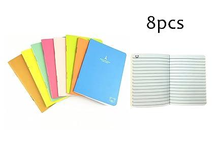 9eb31562b9e7 YYaaloa 4.9''x3.46'' Pack of 8 Mini Steno Books Note Books 20 Sheet Memo  Cute Mini Notebook Double-sided White Paper 8 Colors Assorted Covers, 20 ...