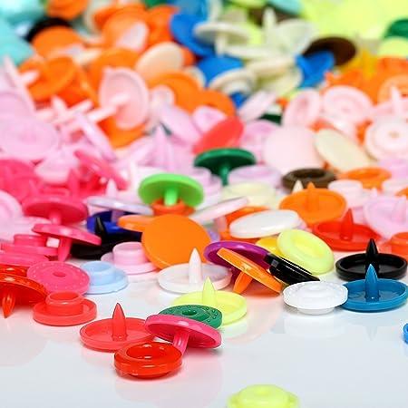 yooye Snap Botones - plástico Snap alicates herramientas de mano con funda de almacenamiento para costura y manualidades: Amazon.es: Juguetes y juegos