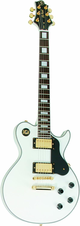 Greg Bennett Avion 7 Pearl guitarra eléctrica – color blanco ...