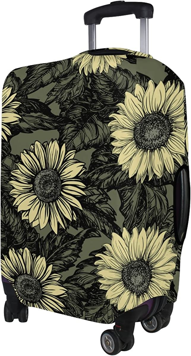 LAVOVO Vintage Sunflowers Luggage Cover Suitcase Protector Carry On Covers
