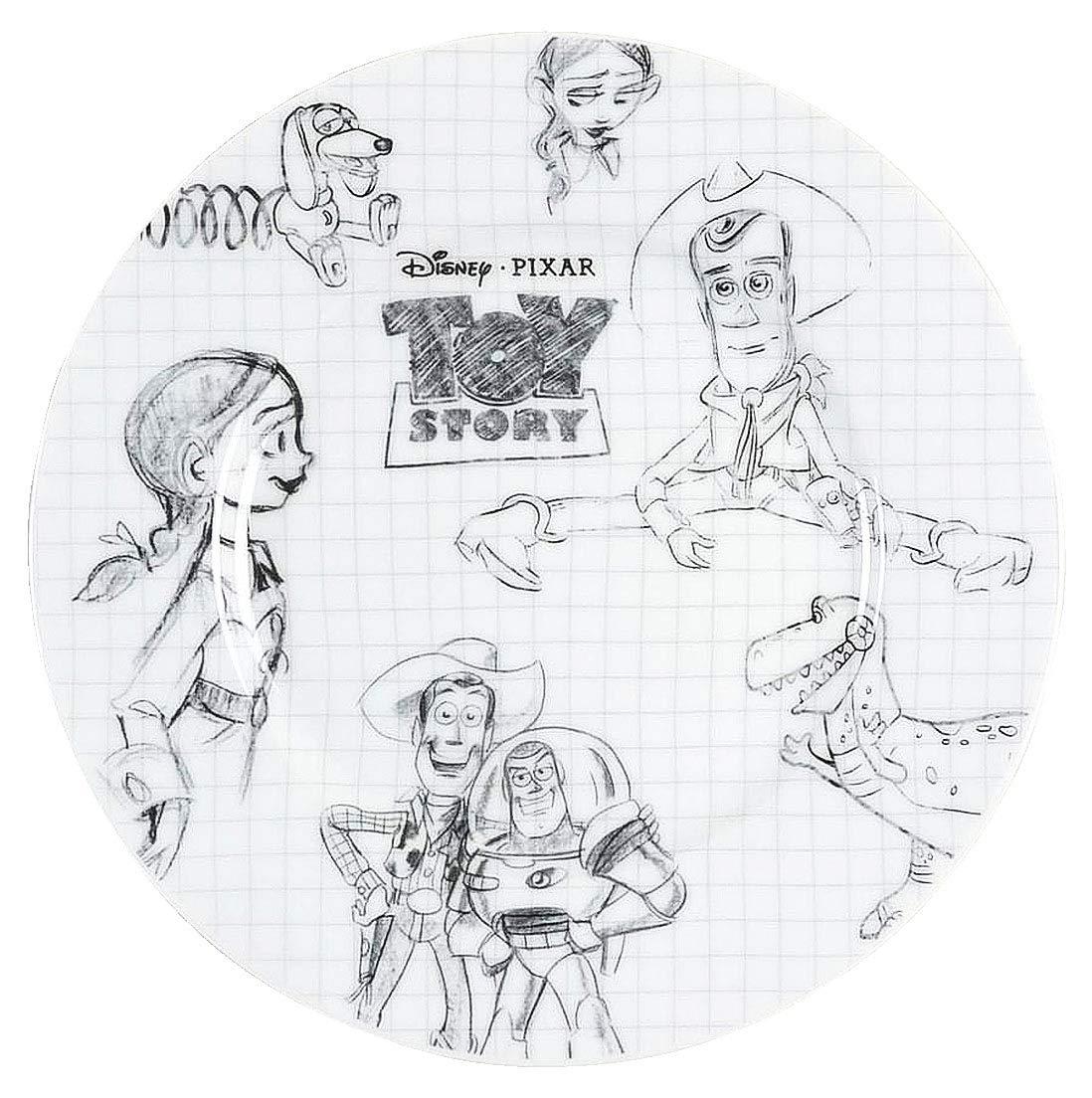 Disney Pixar Sketchbook Salad Plate 8in Set of 4