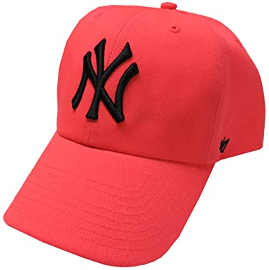 ca0a0ac089 Forty Seven Brand Women s Yankees Hat Ball Cap Neon Pink at Amazon ...