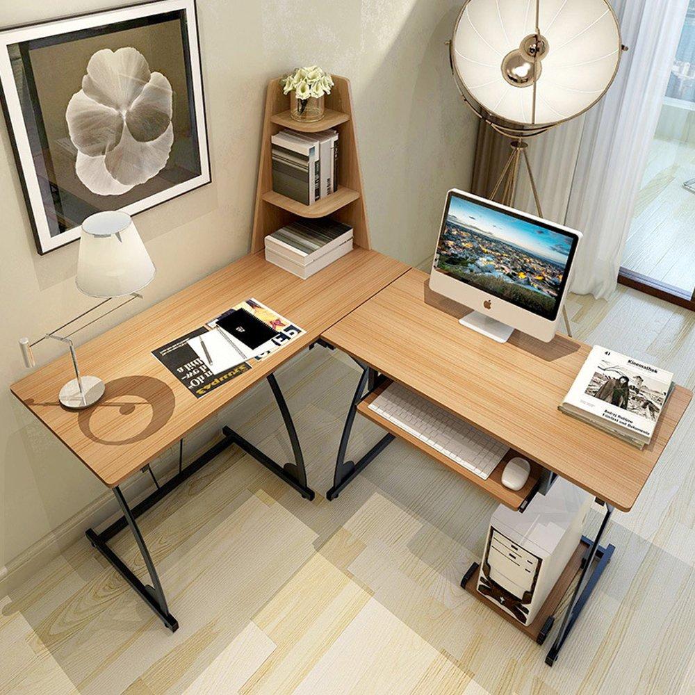 小さな木製テーブルコンピュータノートパソコンデスクポータブルスタディワークステーションキーボードトレイ B07BC4QB3N