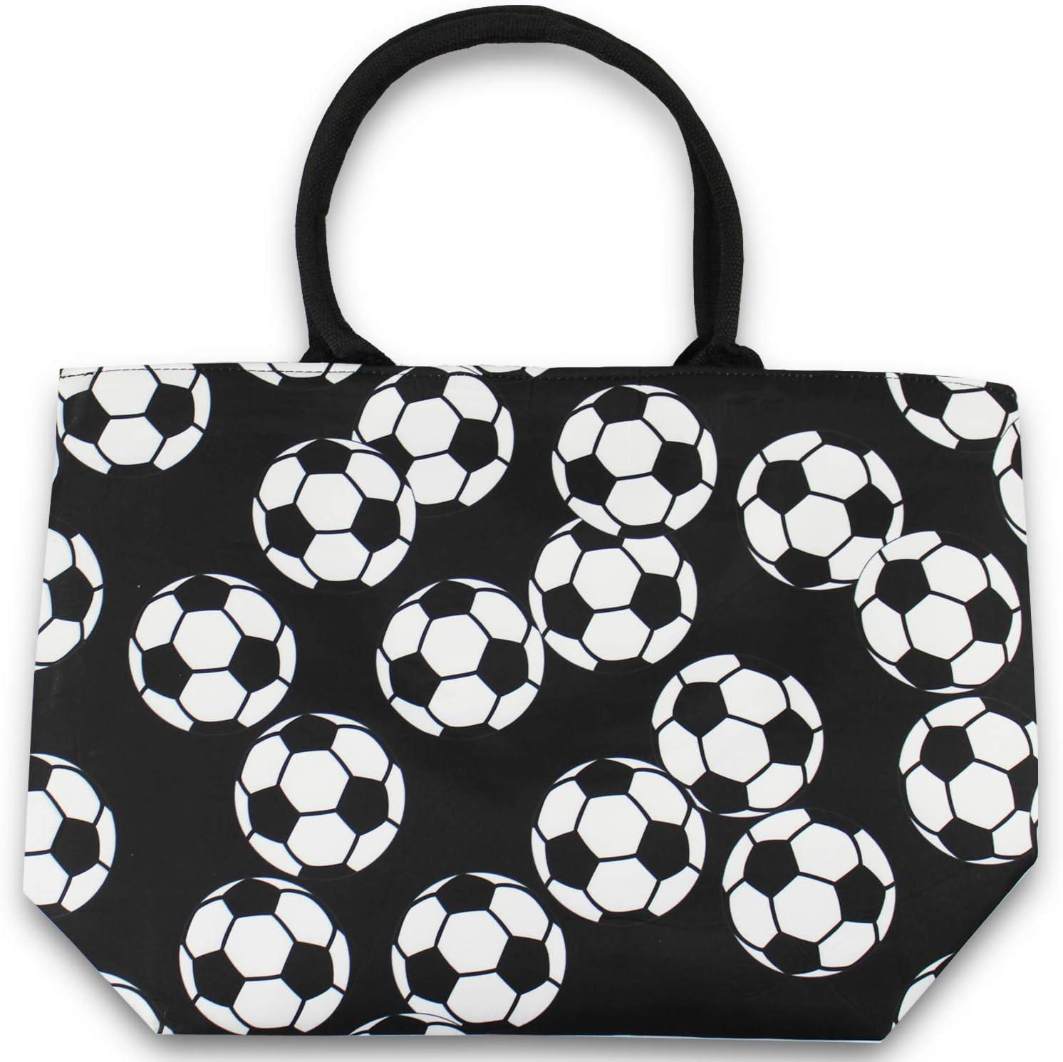 Soccer Urbanifi Sports Prints Utility Canvas Tote Bag Handbag Medium Mom