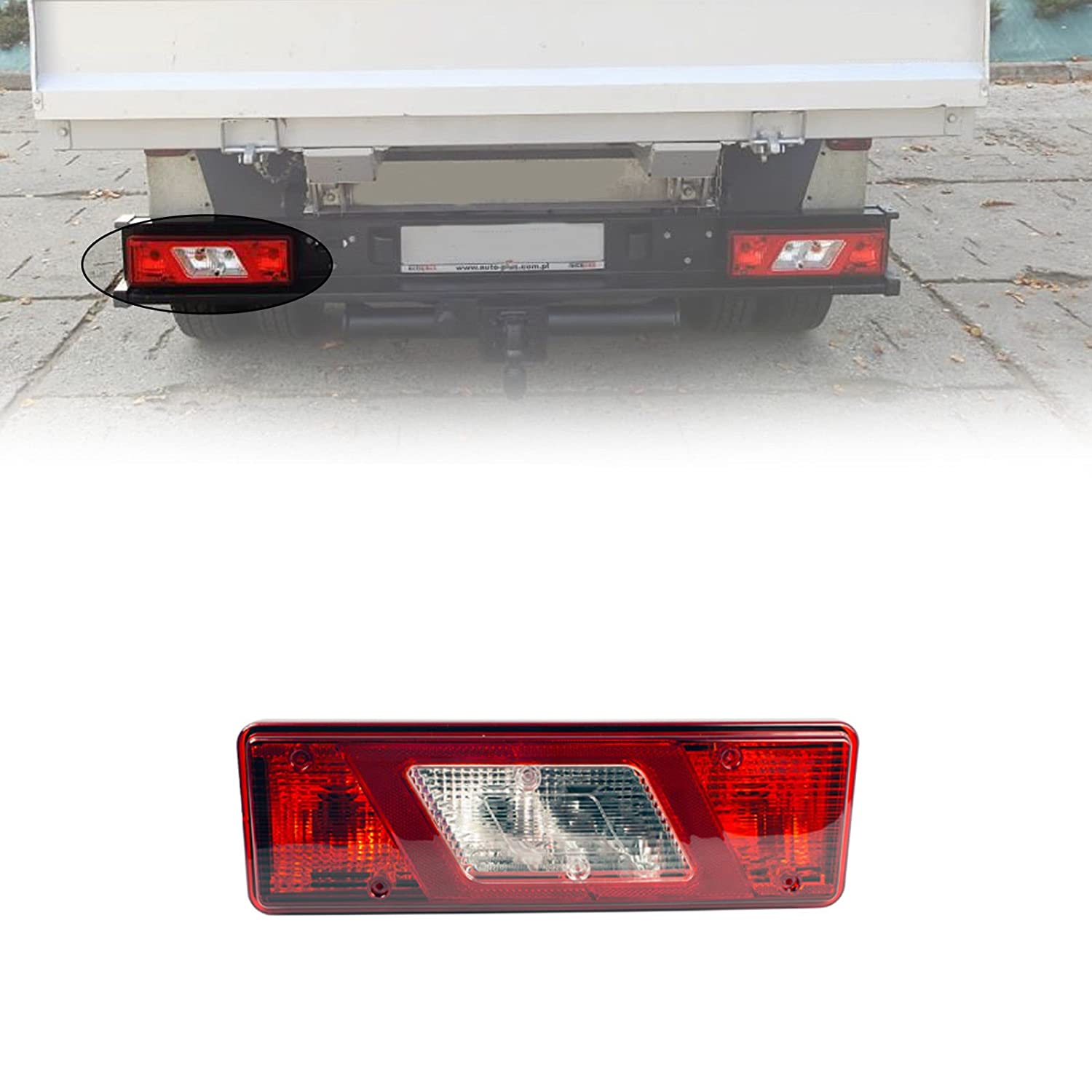Ford Transit Tipper Pick-Up 2014 On Right Side Rear Tail Stop Light Lamp