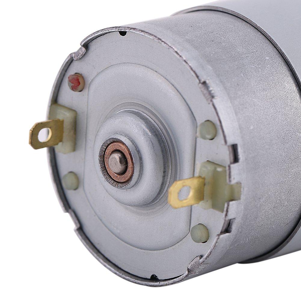 12V 24V Motor El/éctrico de Grande Esfuerzo de Torsi/ón de DC 15W de Velocidad Lenta y Poco Ruido con Engranaje 12V 200r//min