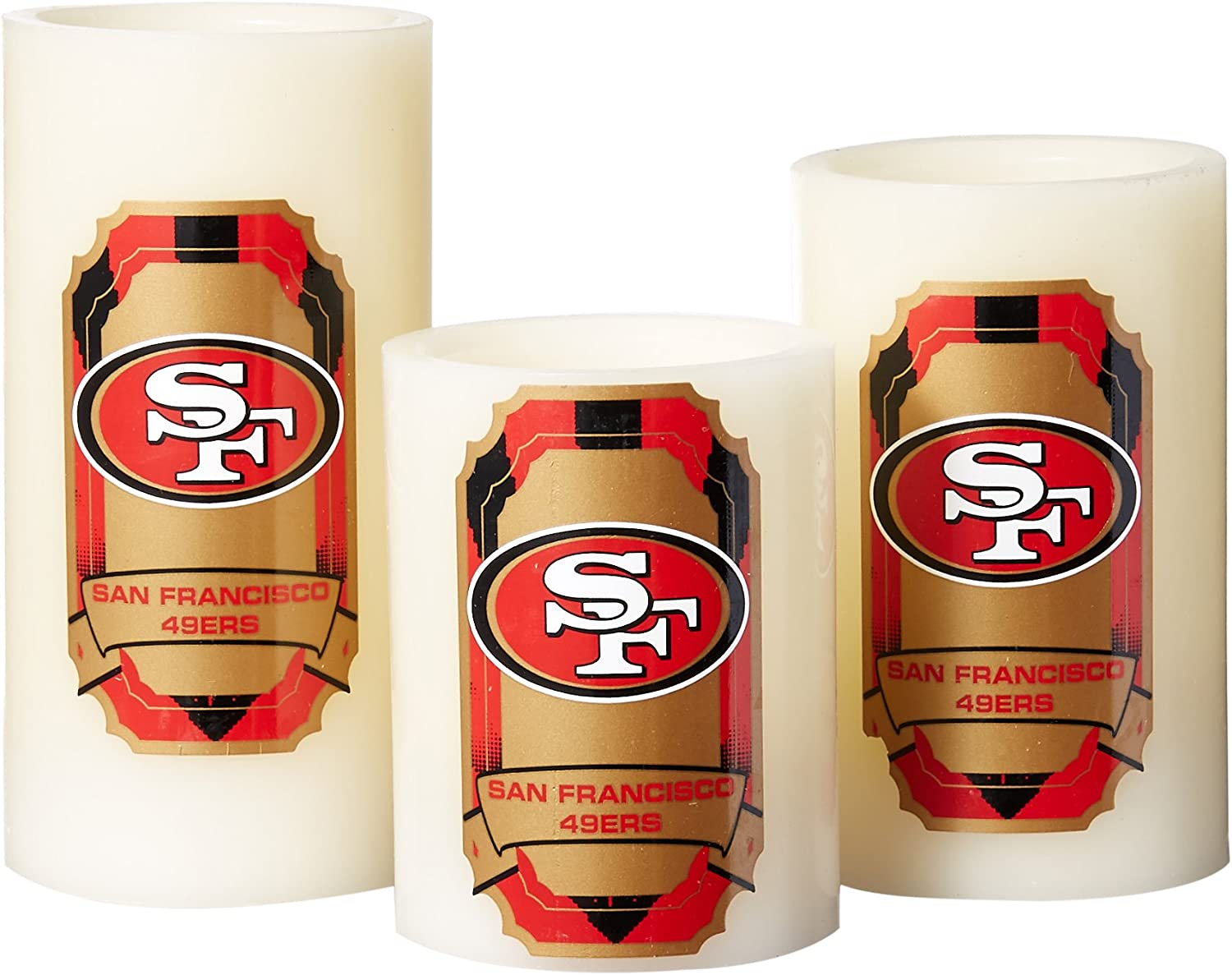 3 Piece Duck House NFL LED Light Candle Gift Set