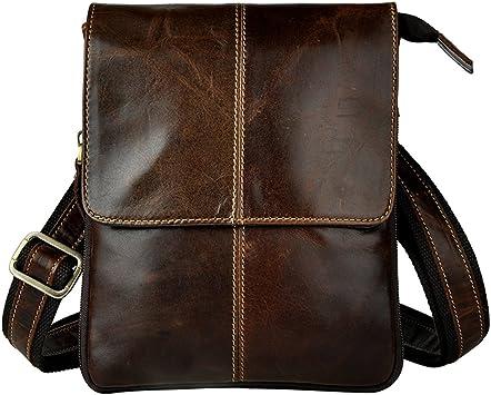 Genda 2Archer Genuine Leather Shoulder Messenger Bag Satchel Purse Bag Crossbody Bag