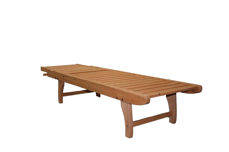 Amazon.com: Chaise Lounge de madera: Jardín y Exteriores